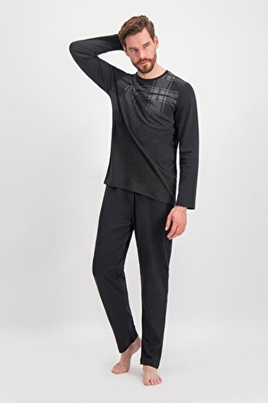 Arnetta Arnetta Blur Siyah Erkek Pijama Takımı Siyah